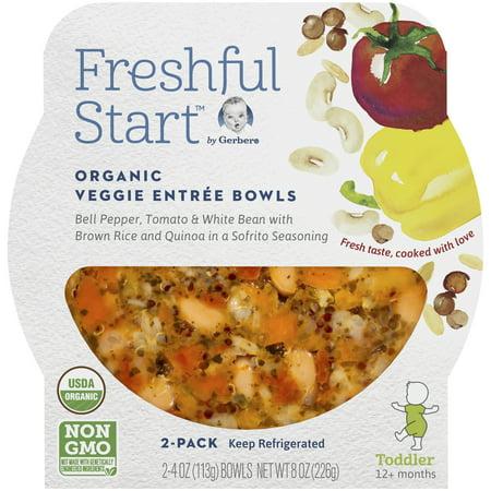 Gerber Freshful Start Organic Veggie Entree Bowl Bell