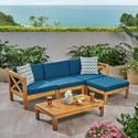 5-Piece Rayan Acacia Wood Sofa Set