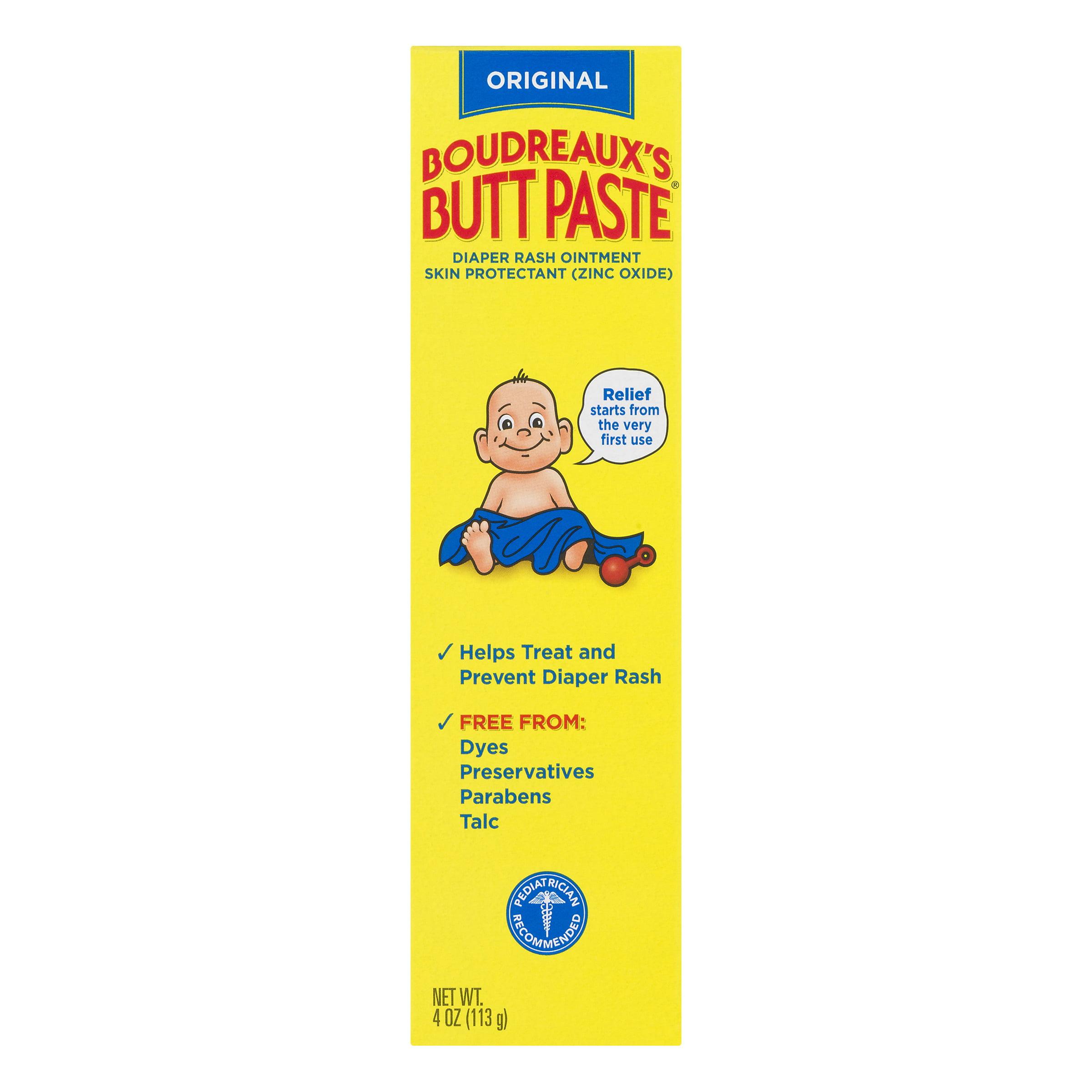Boudreaux's Butt Paste Original Diaper Rash Ointment, 3 oz