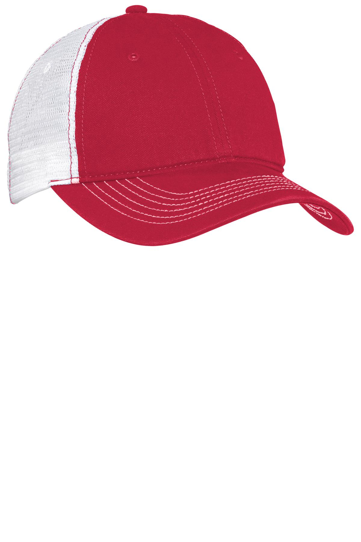 District® - Mesh Back Cap. Dt607 Red  White Osfa 9809ff66aeb