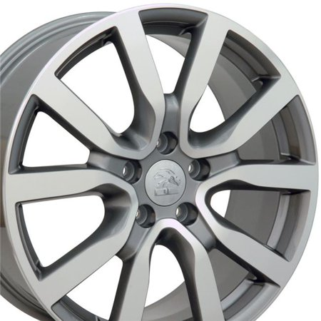 Golf Cart Replica - 18 x 7.5 in. Golf Style Wheel Replica, Gunmetal Machined Face for VW Volkswagen Golf
