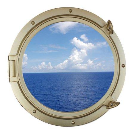 Ship Porthole (Handcrafted Nautical Decor Decorative Ship Porthole Window Wall D)