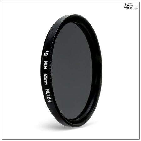 52mm Double Threaded Neutral Density (ND4) Professional Photography Filter for Canon and Nikon Camera Lenses by Loadstone Studio