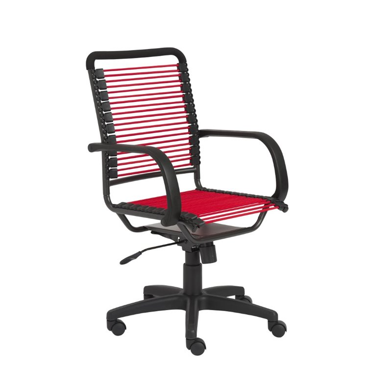 Euro Style Eurostyle Bungie High Back Office Chair in Red