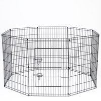Paws & Pals Large Hammigrid Wire Folding 8-Panel Pop-Up Kennel, 2019 Design
