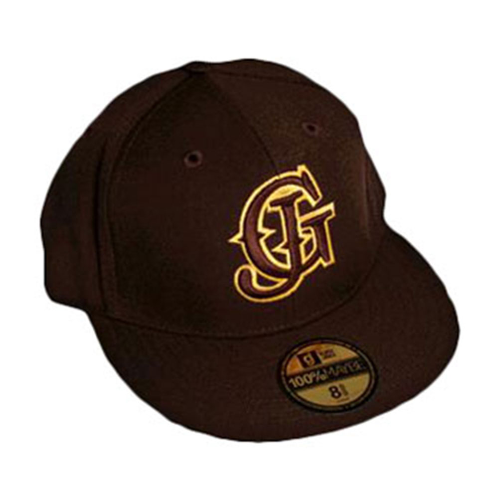 Glassjaw Men's  Brown With Gold Flatbrim Baseball Cap Brown
