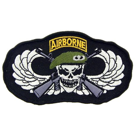 Black Airborne Wing - U.S. Army Airborne Wing Patch Black & White 3