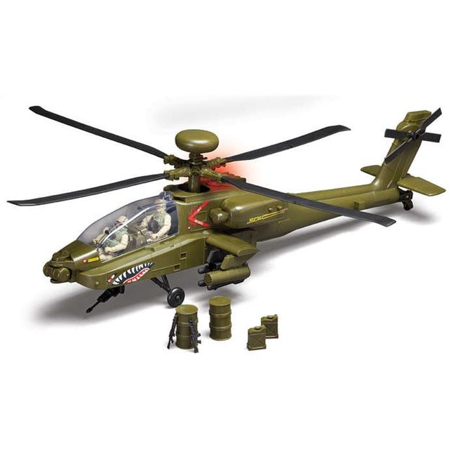 Red Box RB78203 AH-64 2 Figures Apache Helicopter with Light & Sound by Red Box Toy