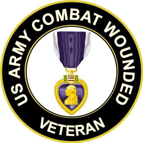 Purple Heart Sticker Decal Self Adhesive Vinyl military decoration us military