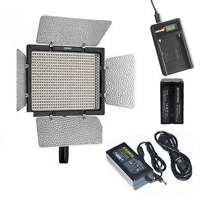 YONGNUO YN600L 600 LED 5500K Studio Video Light + AC/DC power adapter+ battery