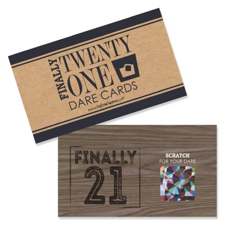 Finally 21 - 21st Birthday - Party Game Scratch Off Dare Cards - 22 - 21st Halloween Birthday Party