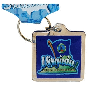 Ddi Virginia Keychain Lucite Map/flag (pack Of 96)