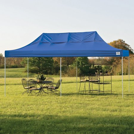 10' x 20' Pro Pop-up Canopy Straight Leg, Blue Cover