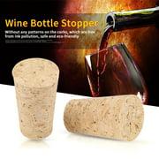 Mgaxyff 2Types 10PCS Natural Cork Tapered Corks Wooden Wine/Beer Bottle Stopper, Natural Cork, Tapered Cork