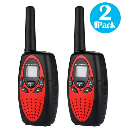 FLOUREON Walkie Talkies 22 Channels 2 Way Radio 3 Miles (Up to 5 Miles) FRS/GMRS Toy for Kids 2 Pack 2 Line 3 Way