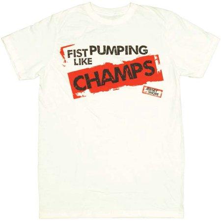 Jersey Shore Fist Pump T-Shirt Sheer](Funny Jersey Shore)