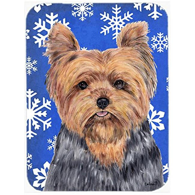 Carolines Treasures SC9388-CO1 Yorkie Winter Snowflakes Holiday Ceramic Ornament