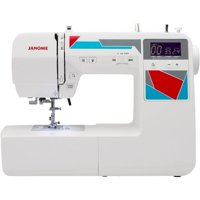 Janome MOD-100 Computerized Sewing Machine w/ 100-Stitches, LCD SCreen, Built-In Needle Threader, 7 One-Step Buttonholes and more