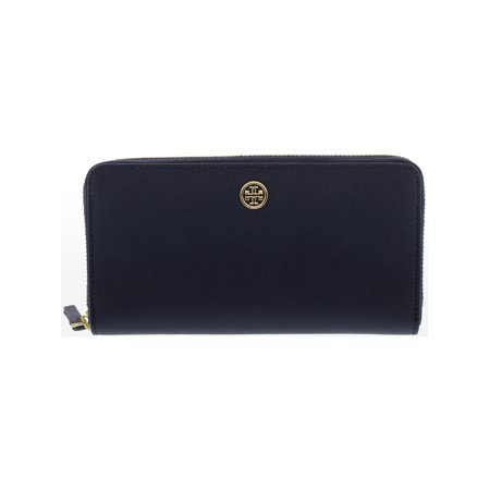- Tory Burch Women's Robinson Zip Continental Leather Wallet - Royal Navy
