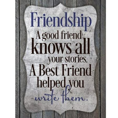 Dexsa Friendship - A Good Friend Knows New Horizons Textual Art Wood - Good Friends Plaque