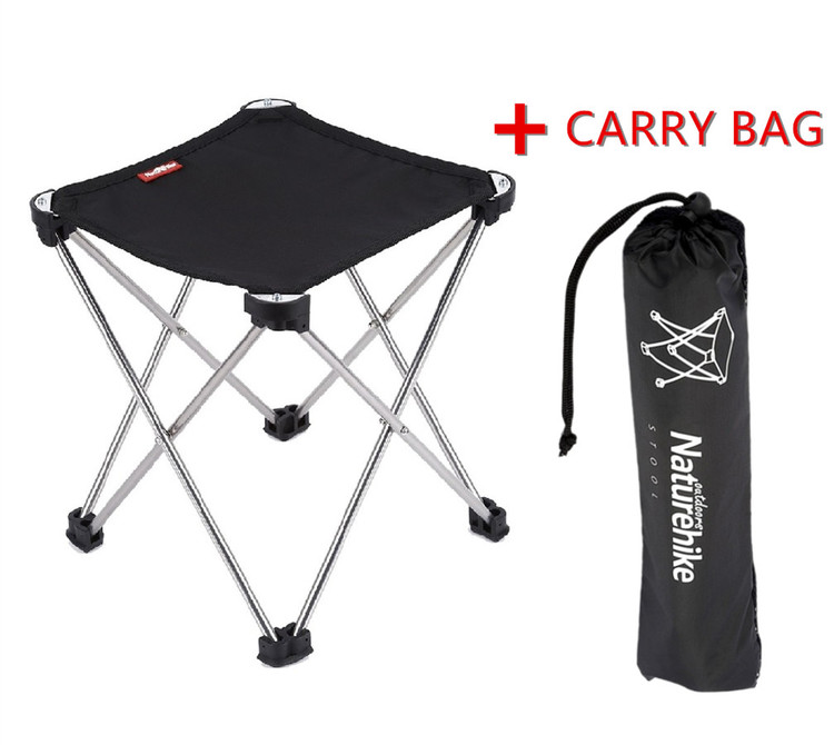 Outdoor Folding Camping Fishing Stool, Portable 60D Oxford Cloth Aluminum  Alloy Lightweight Square Camping Fishing
