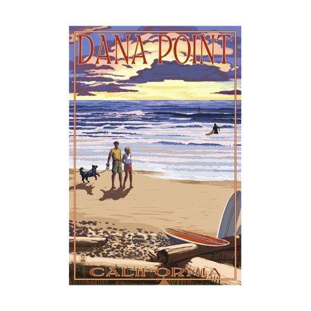 Dana Point, California - Sunset Beach Scene Print Wall Art By Lantern Press - City Of Dana Point Halloween