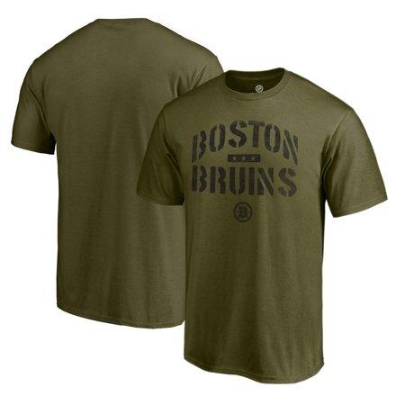 Boston Bruins Fanatics Branded Jungle Camo T-Shirt - Green - - Bruins Light