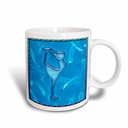 3dRose Female Ice Skater Blue, Ceramic Mug, (Best Female Ice Skater)
