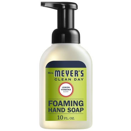 Mrs. Meyer's Clean Day Foaming Hand Soap, Lemon Verbena, 10 fl oz Lemon Foaming Soap