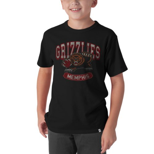 NBA Memphis Grizzlies Flanker Basic Tee, Large, Jet Black