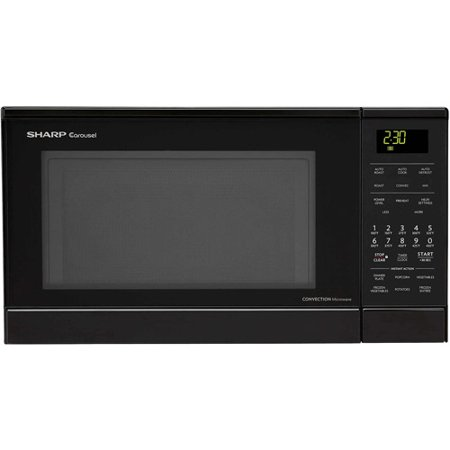 Sharp carousel 0 9 cu ft 900w countertop convection Microwave with stainless steel interior