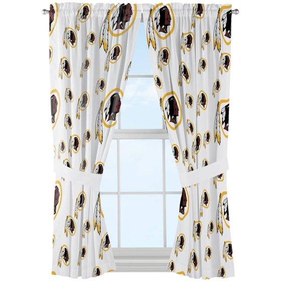 NFL Washington Redskins Mascot Window Curtain Panels Set