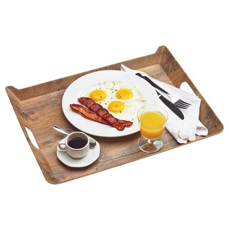 Hickory Melamine Room Service Tray, Rectangle - 20 x 15.5 x 2 in.