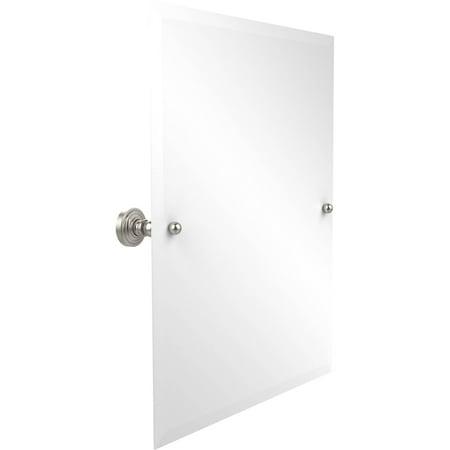 Solid Mirrored Bath (Frameless Rectangular Tilt Mirror with Beveled Edge (Build to Order))
