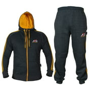 ARD CHAMPS™ Fleece Tracksuit Hoodie Trouser MMA Gym Boxing Running Jogging Suit Color Charcoal, Size Medium