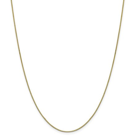 Roy Rose Jewelry 10K Yellow Gold .90mm Box Chain Necklace ~ Length 30'' inches