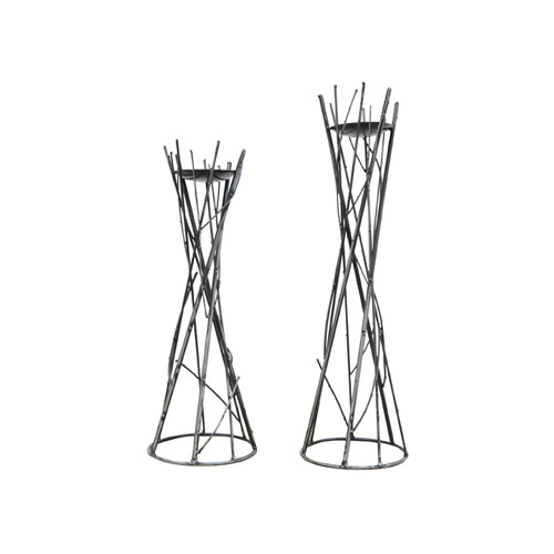 Crestview Collection Twig Metal Candlesticks (Set of 2)