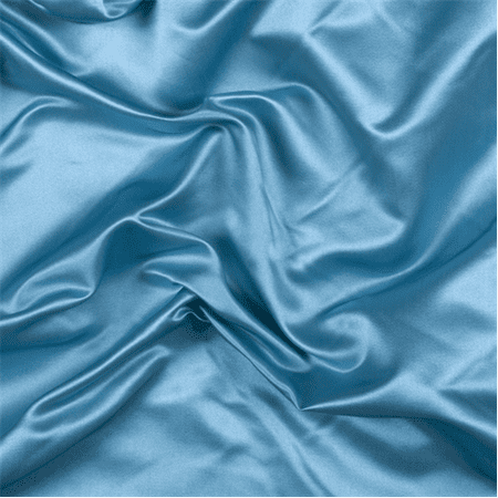 Turquoise Silk Duchess Satin Fabric By The Yard