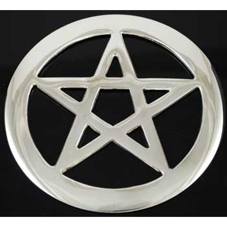 Pentacle 4 Silver plated Altar Tile