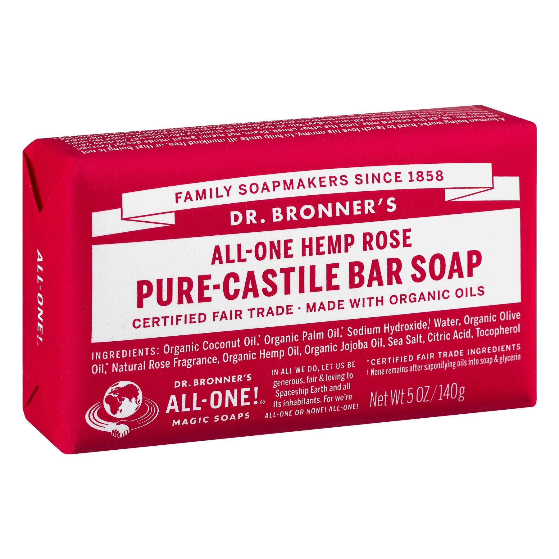 Dr Bronner s Rose Bar Soap Walmart