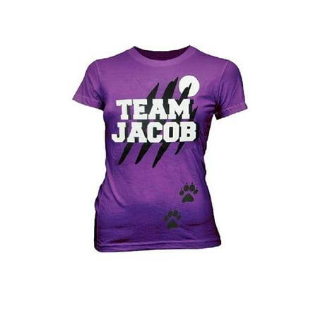 Twilight Team Jacob Wolf Purple Juniors T-Shirt](Jabot Shirt)