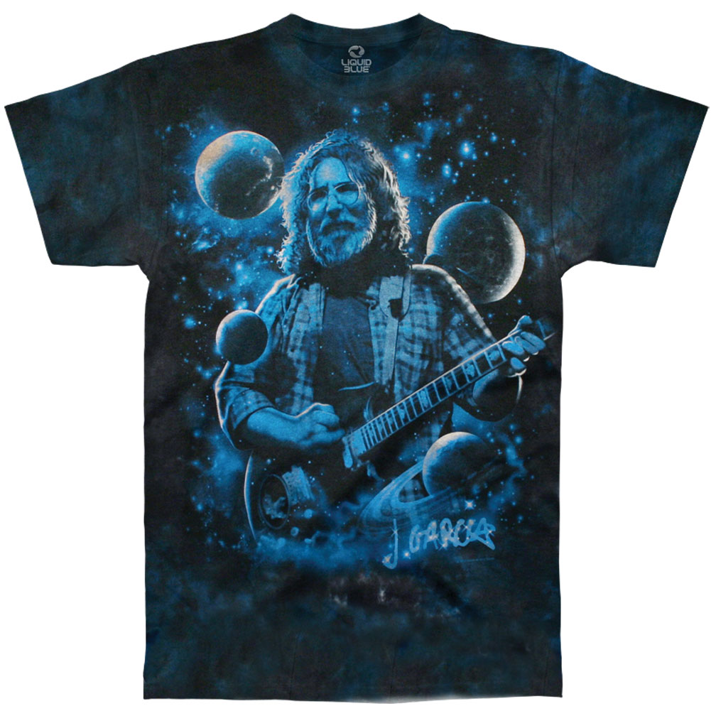Jerry Garcia Men's  Lovely View Of Heaven Tie Dye T-shirt Black
