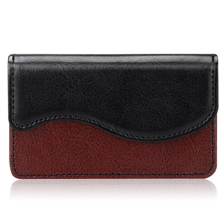 Business Card Holder / Credit Card Wallet, Fintie Premium PU Leather Card Case Organizer W/ Magnetic Closure, Dual (Soho Magnetic Card Case)