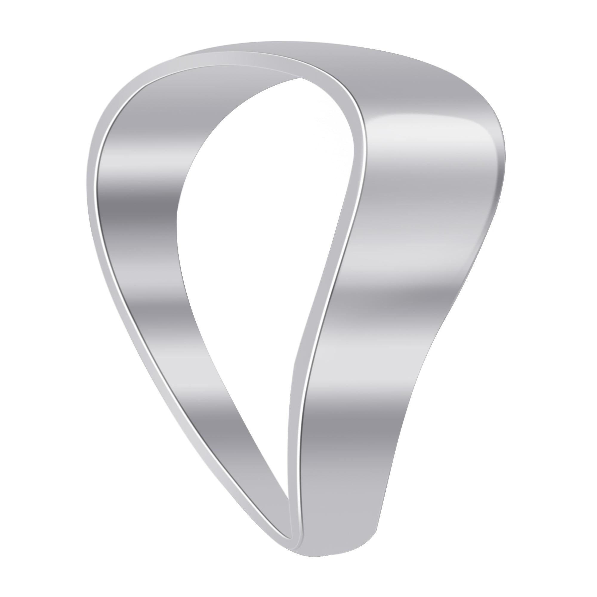 Sterling silver wave design plain ring