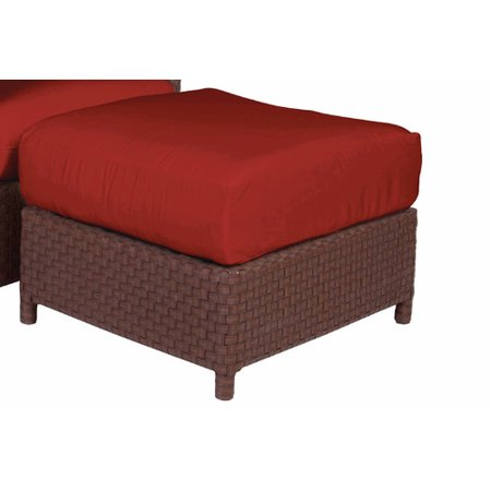 Acacia Home and Garden George Town Ottoman with Cushion