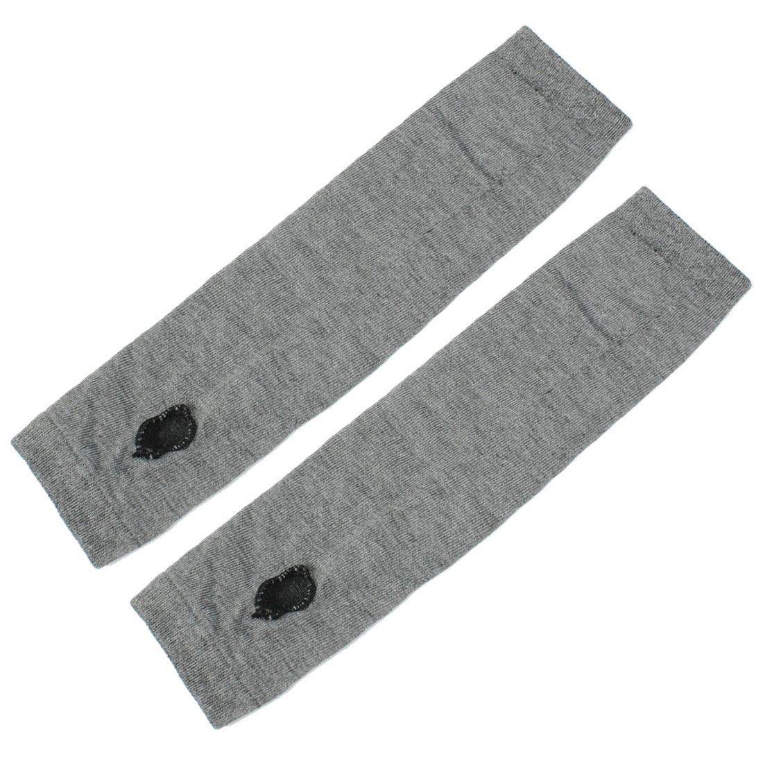 Unique Bargains Women Girls Elastic Thumbless Fingerless Arm Warmers Gloves Gray