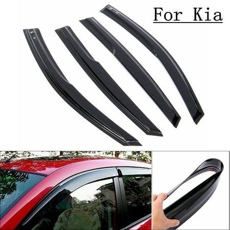 4Pcs Car Window Visor Sun Shade Vent Rain Guards Deflector For KIA Optima K5 11-2015 (Breeze Guard Car Window)