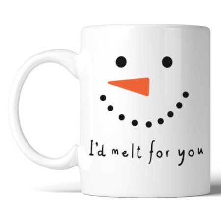 365 Printing Inc I'd Melt for You Mug Snowman Face Mug](Melting Snowman)