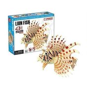 Hansen Build Your Own Lion Fish Model 4D Puzzle for Age 6+ (15 Piece), 3""