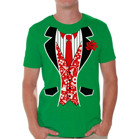 Awkward Styles Red Tuxedo Christmas Tshirt Men's Tuxedo Ugly Christmas T Shirt Xmas Tuxedo Shirts Funny Christmas Outfit Xmas Party Gifts for Him Christmas Blazer Shirt Christmas Shirts for Men - Lloyd Christmas Tuxedo